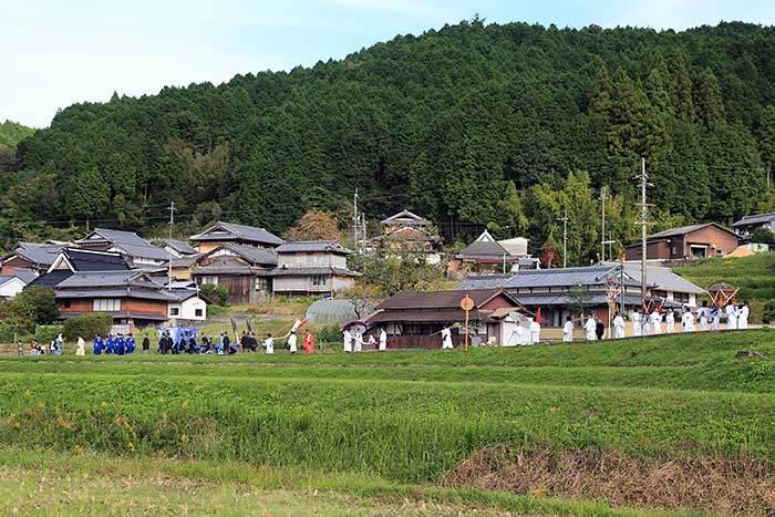 夜支布山口神社 秋祭り9