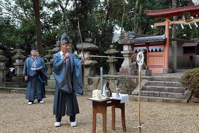 秋留八幡神社 鬼打式3