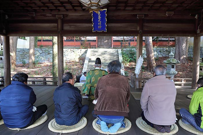 矢田坐久志玉比古神社 筒粥祭1