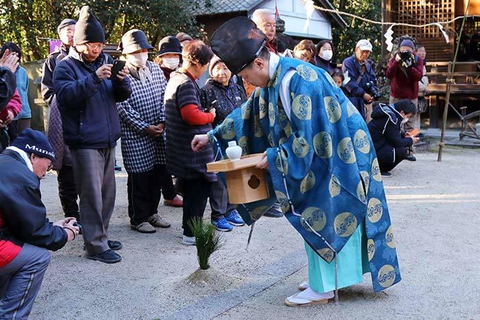 村屋神社 御田祭り1
