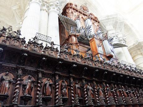 スペイン中東338カディスカテドラル聖歌隊席