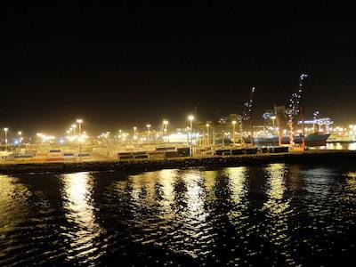 スペイン中東389カサブランカ港夜景