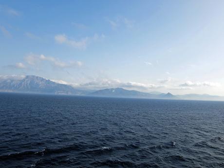 スペイン中東390クルーズジブラルタル海峡