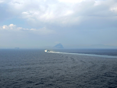 スペイン中東394クルーズジブラルタル海峡