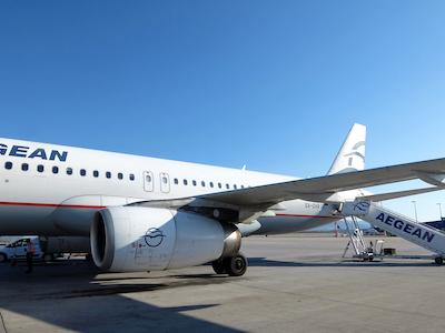 スペイン中東426バルセロナ空港エーゲ航空