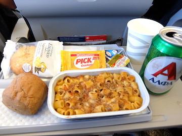 スペイン中東427エーゲ航空機内食