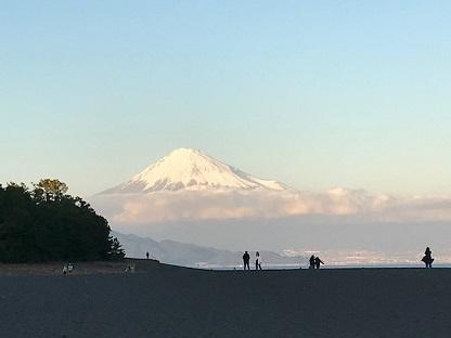 2020年赤富士三保にて