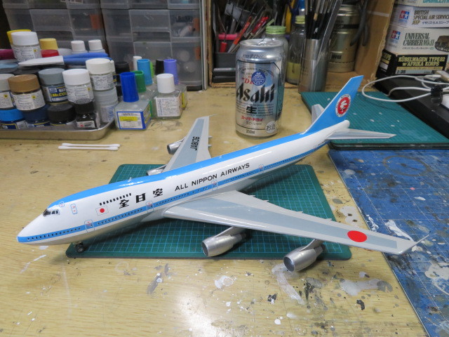 ANA B747 モヒカン塗装 進行・・・