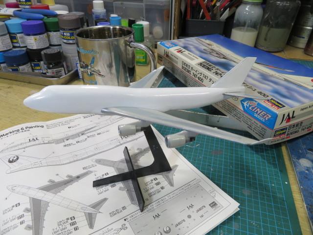 JAL 1/400 B747-400 進行・・・