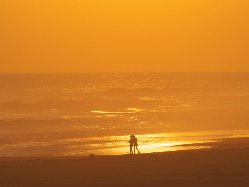 夕陽と戯れて・・・