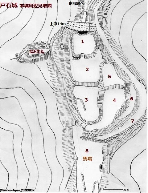 戸石城本城
