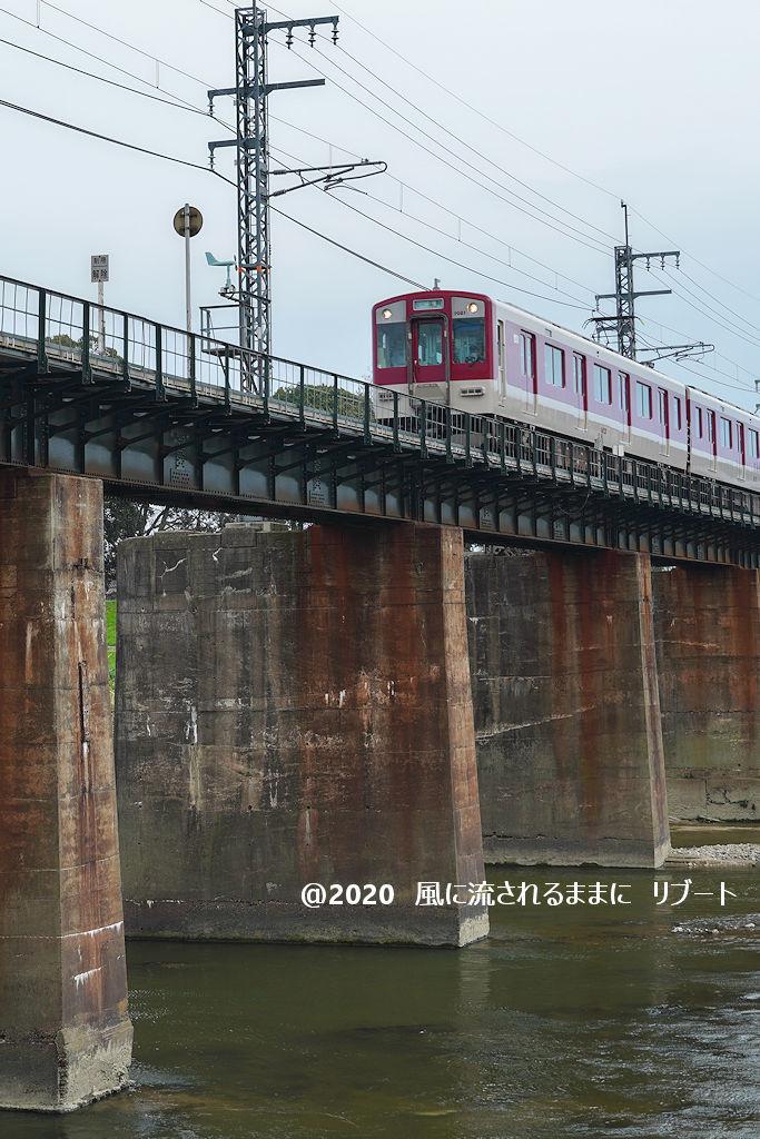 奈良・三郷町 菜の花と近鉄電車4