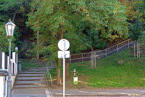 ヴィシェフラットへの階段道