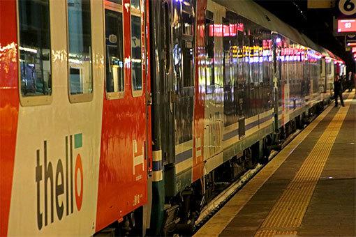 ヴェローナ駅ホーム 寝台列車テロ
