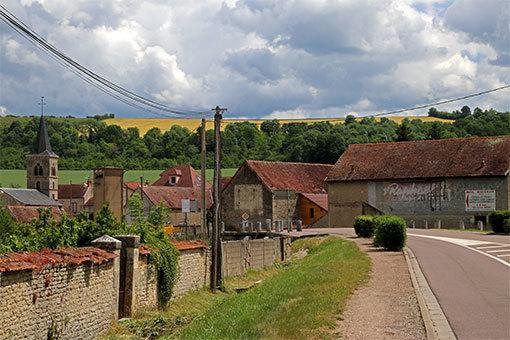 マルマーニュ村の丘