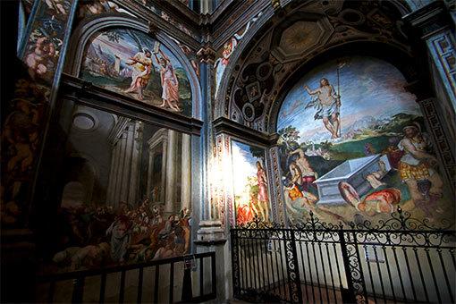 ミラノ サンマウリツィオ教会の壁画