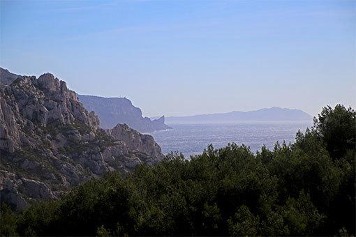 モルジウカランクへの道 上から海が見えた
