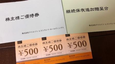 クリエイト・レストランツHD_2020③