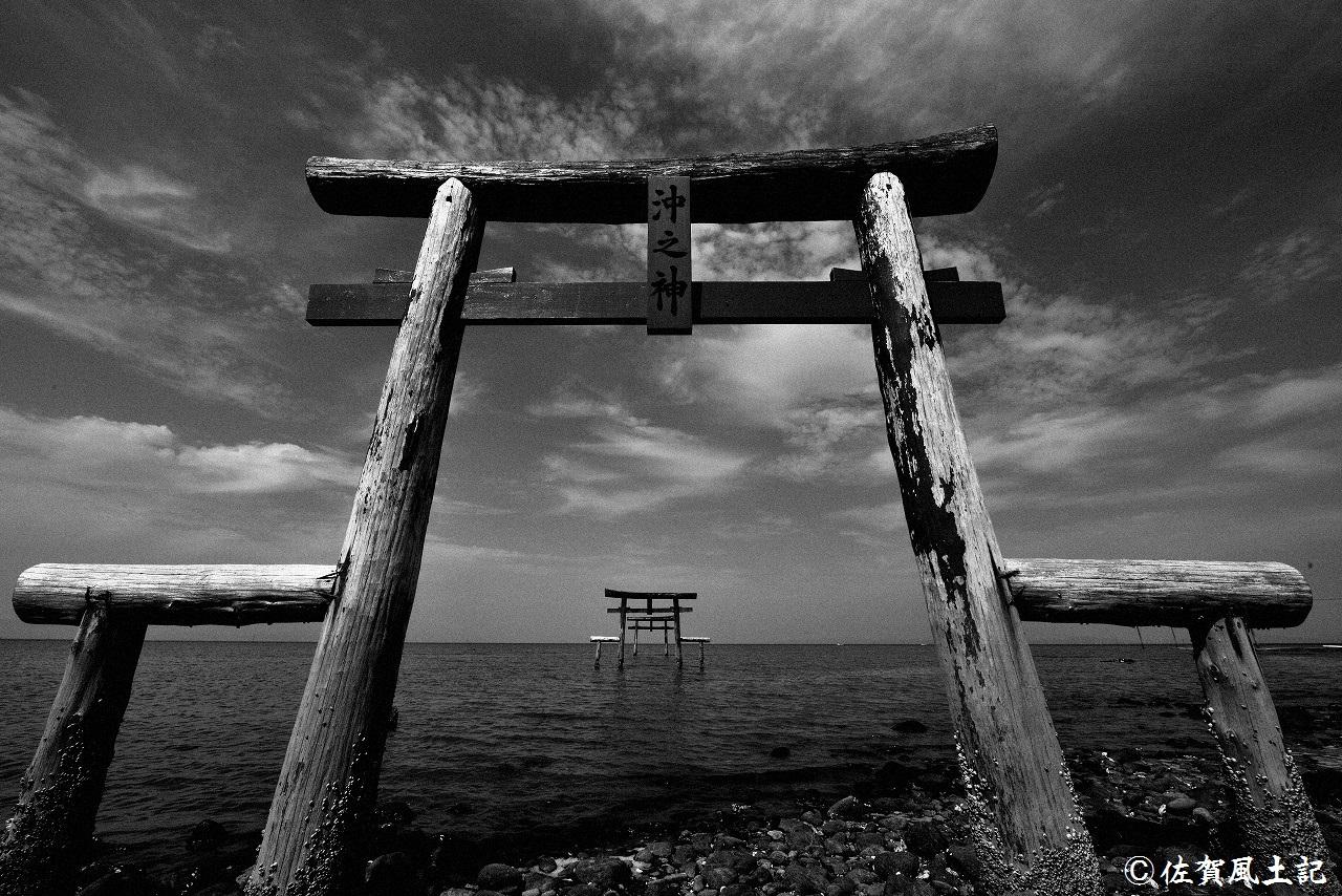 太良町大魚神社・海中鳥居(その2)