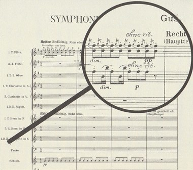 2.マーラー自身が1911年に使った楽譜には「スローダウンせずに」