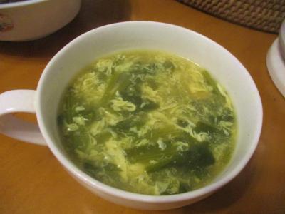 200407ほうれん草と卵の中華スープ