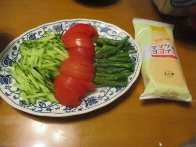 200501メンツナマヨマヨで野菜盛
