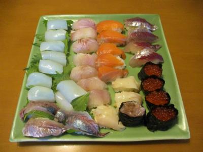 200517余り物で朝食も寿司
