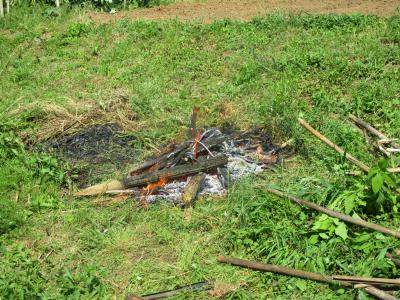 200523古い竹などの焼却1