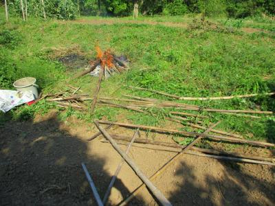 200523古い竹などの焼却2