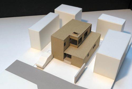 一本杉町の家 計画模型