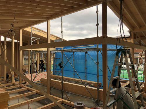 湯向の家 建て方3