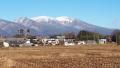 浅間連山の雪