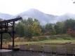 雨が降る国営アルプスあづみの公園
