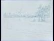 雪の麦畑デッサン