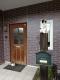 玄関の門番猫
