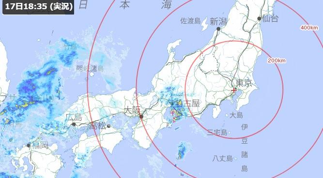 2020-4-17本日現在の豪雨レーダー
