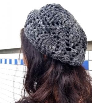 パイナップル編みの帽子1
