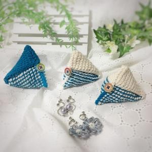写真 ダブルフックアフガン三角ポーチ 正方形2