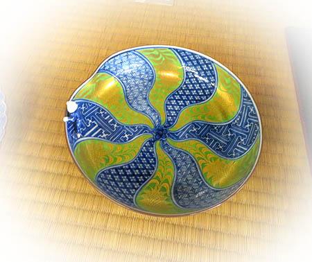 0426染付ペルシャ菊割鉢