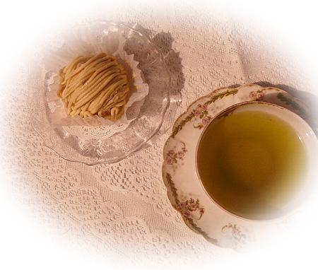 0502和栗モンブラン 日本茶