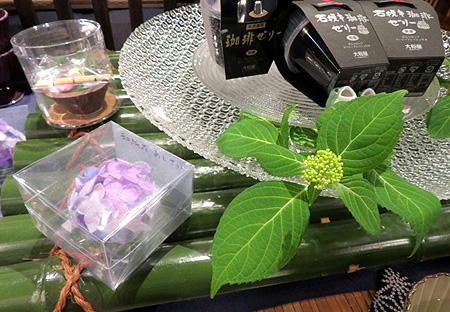0512紫陽花・ガラス