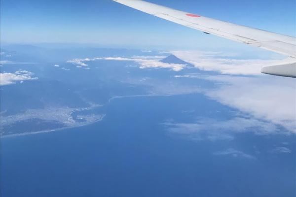 富士山が見えるぞー