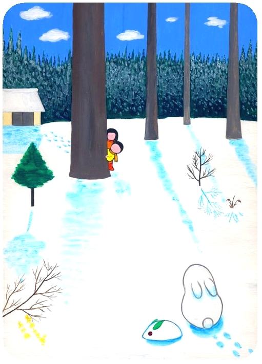 秋野あかね美術館ブログ 冬のウサギ
