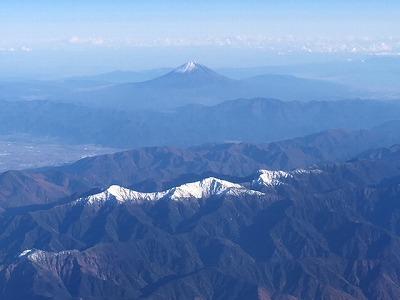 南アルプスよりの富士山