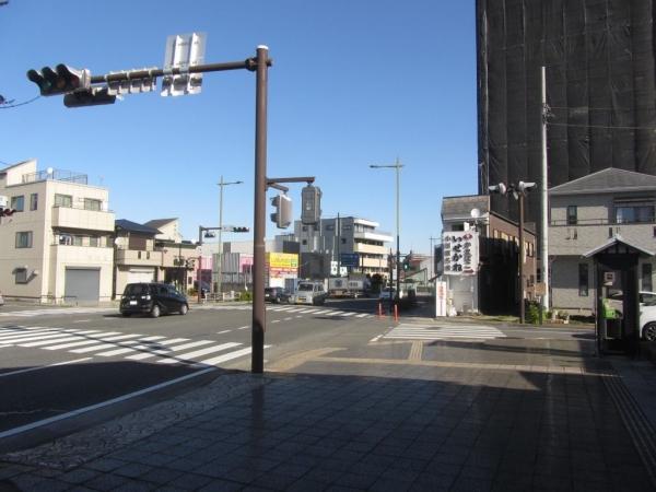 旧東海道 御成道・旧東海道分岐点