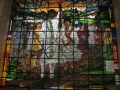 Stained glass in UN-ECA building by Afewerk Tekle