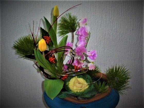 コピー2020玄関正月花