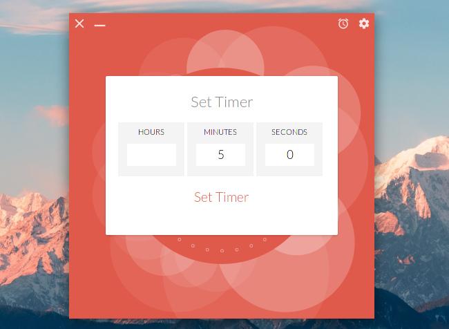 Up Clock デジタル時計 タイマーの設定