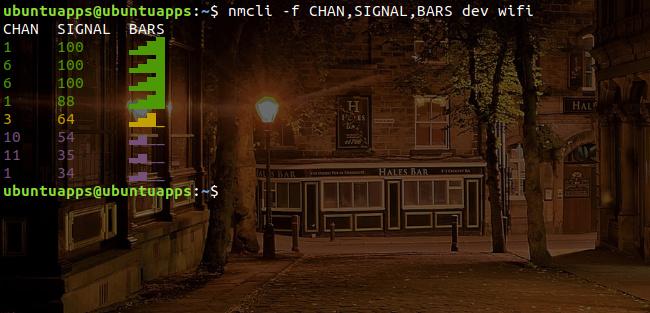 nmcli command WiFi フィールドオプション