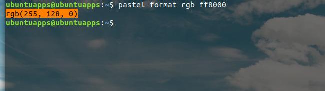 pastel コマンド カラーコード変換
